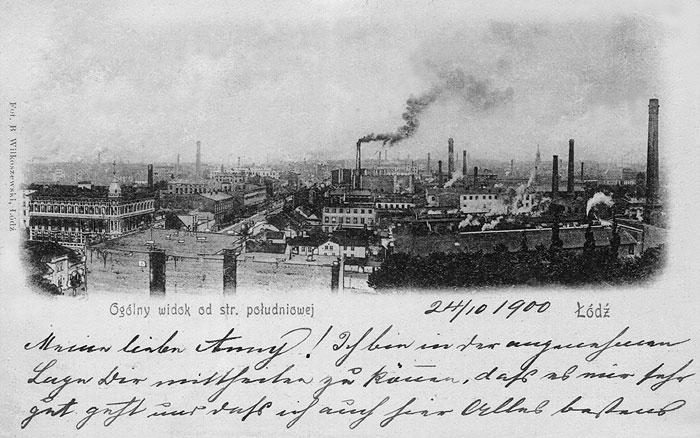 Panorama Łodzi - Piotrkowska/Radwańska - 1900