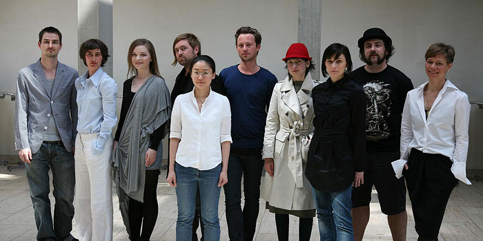 Na zdjęciu: Adrian Sommerauer, Antje Pugnat, Saara Lepokorpi, Rickard Lindqvist, Gim Tok, Marcel Ostertag, Helena Ruff, Juliane Meyer, Gregor Gonsior, Antonia Goy. Foto: Usedom Baltic Fashion Award