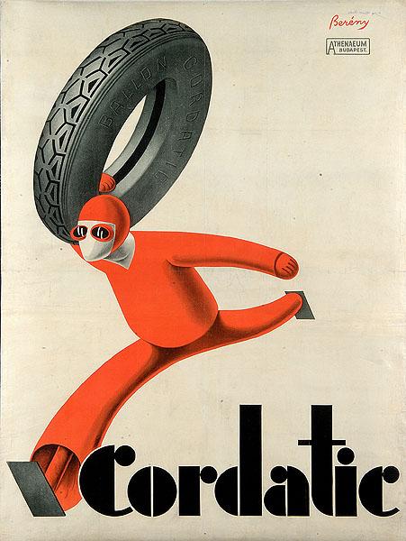 Róbert Berény, Cordatic, 1929, plakat  poster, Węgierska Galeria Narodowa  Hungarian National Gallery
