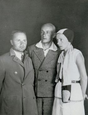 Julian Przyboś, Władysław Strzemiński, Katarzyna Kobro, ok. 1930